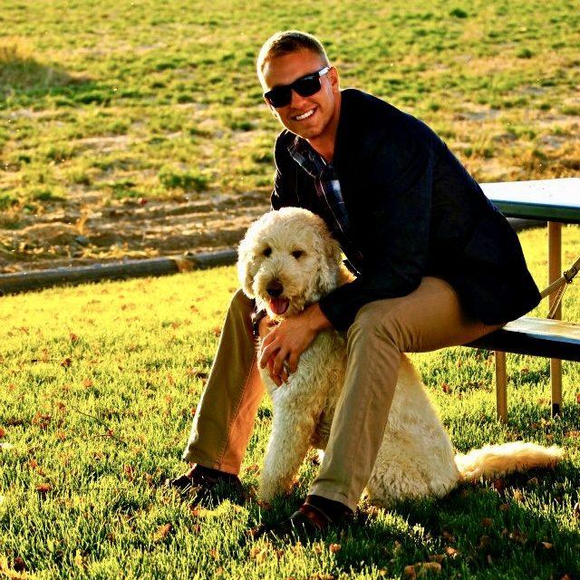 Cameron and dog